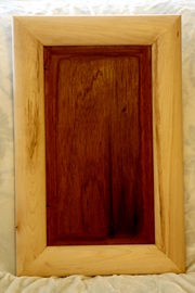 Our second cabinet door prototype, without finish on it.